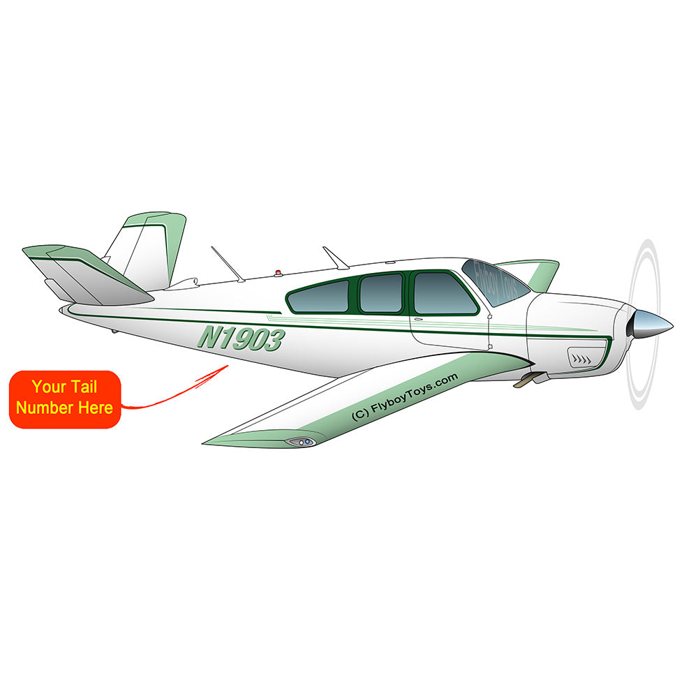 Beechcraft Bonanza S35 Green