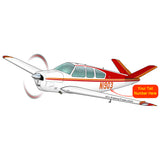 Airplane Design (Red/Orange) - AIR2552FES35-RO1