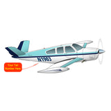 Airplane Design (Turquoise) - AIR2552FES35-T1