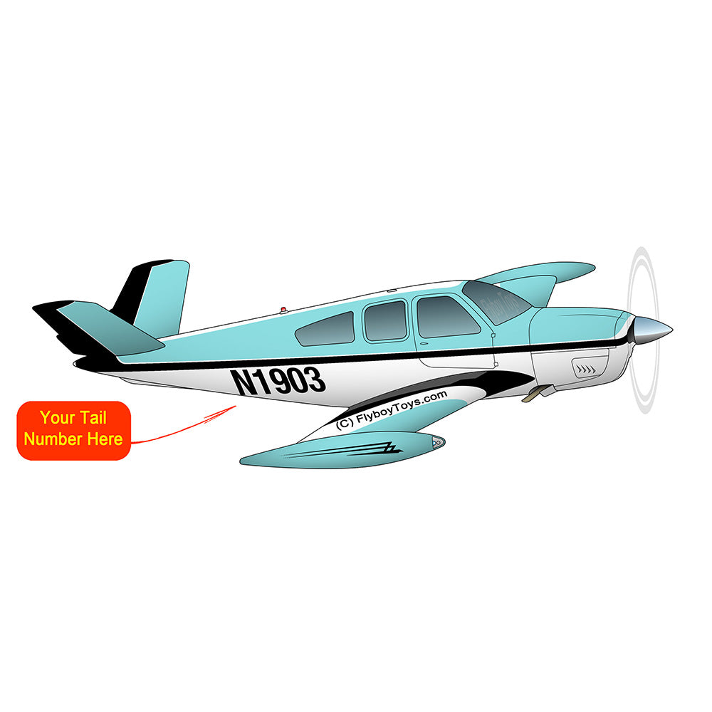 Airplane Design (Turquoise/Black) - AIR2552FES35-TB2