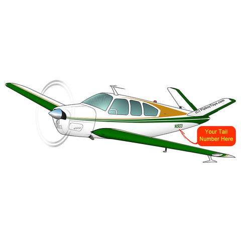 Airplane Design (Yellow/Green) - AIR2552FES35-YG1
