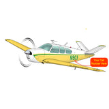 Airplane Design (Yellow/Green) - AIR2552FEV35-YG1