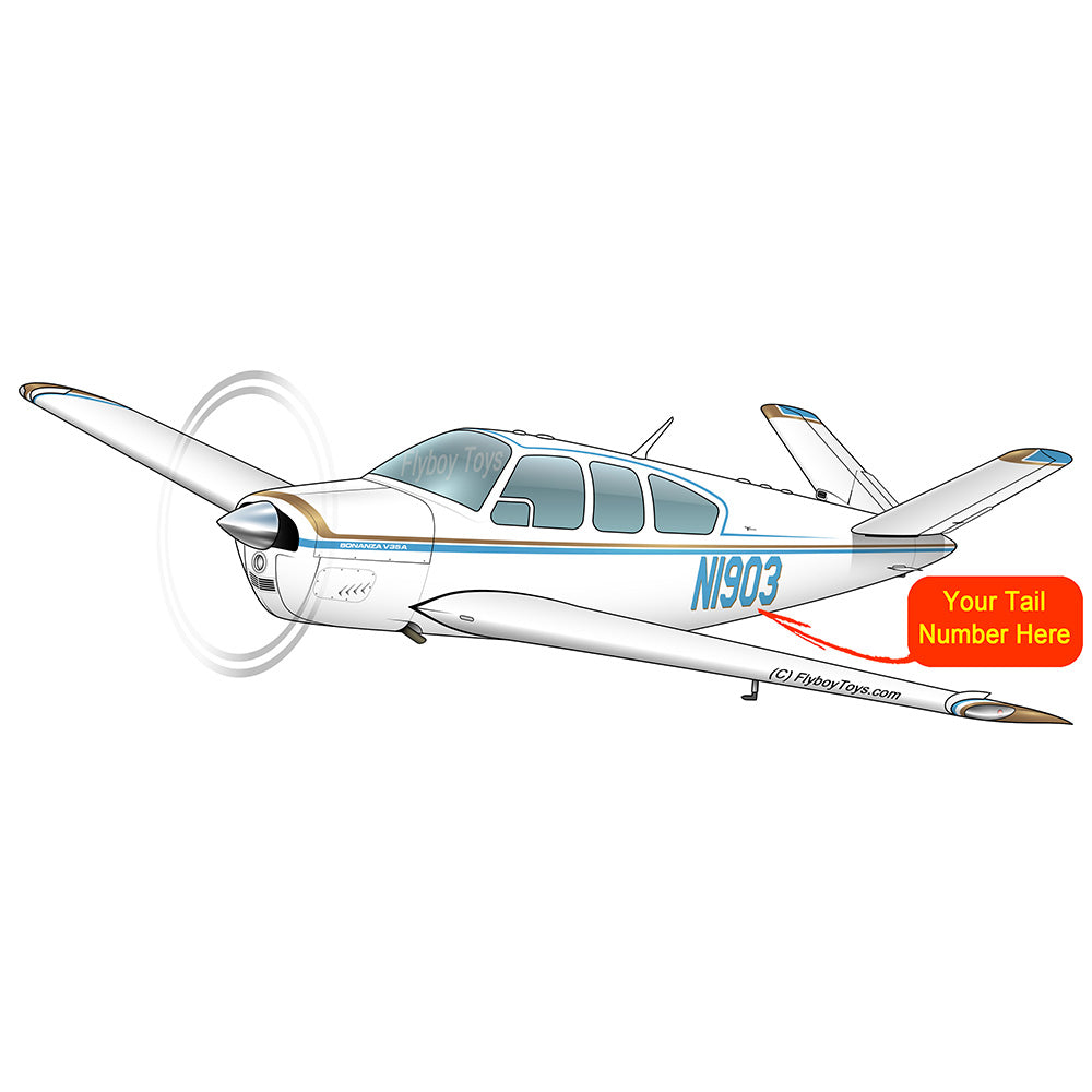 Beechcraft Bonanza V35A Blue Gold