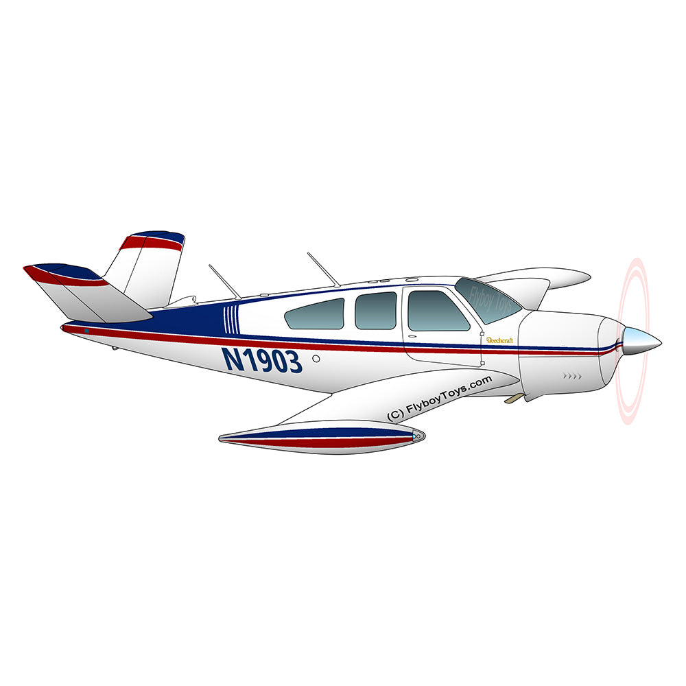 Beechcraft Bonanza V35A Blue Red