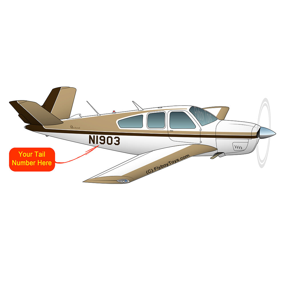 Beechcraft Bonanza V35A Brown