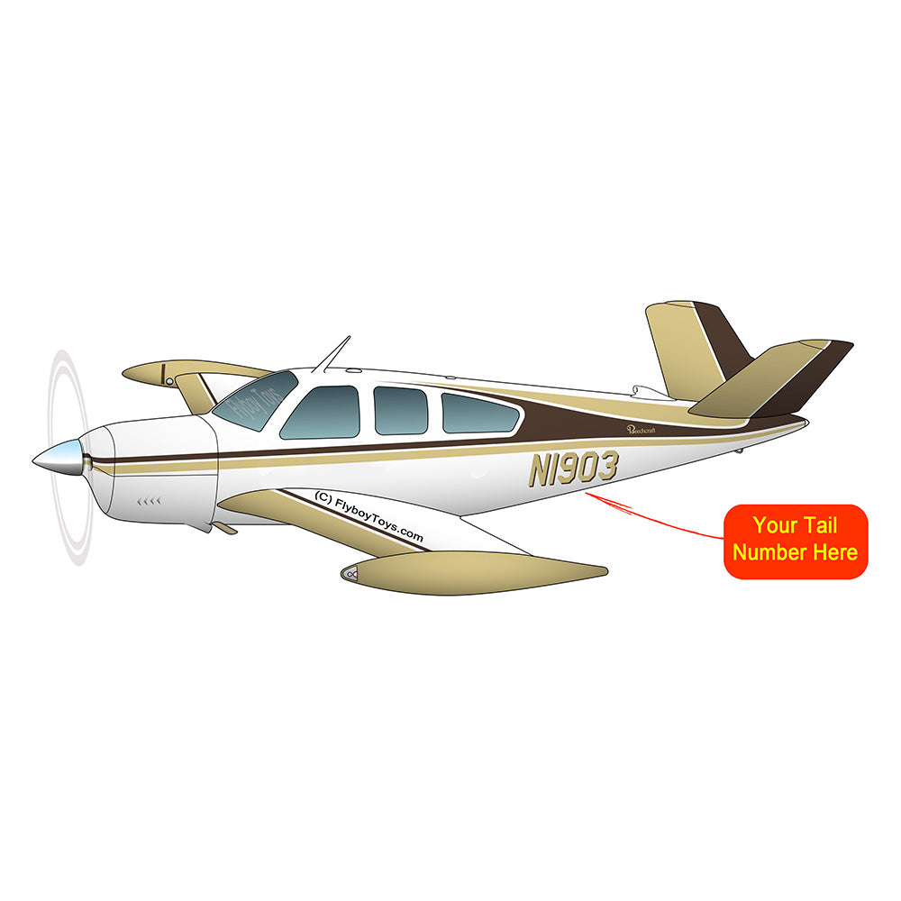 Beechcraft Bonanza V35A Blue Tan 2