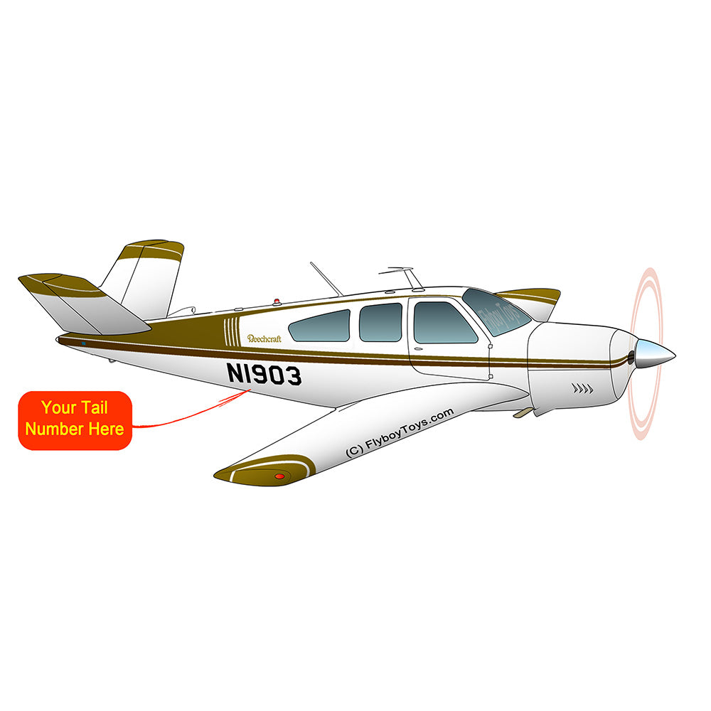 Beechcraft Bonanza V35A Olve Brown