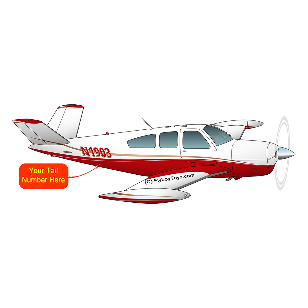 Airplane Design (Red/Tan) - AIR2552FEV35A-RT1