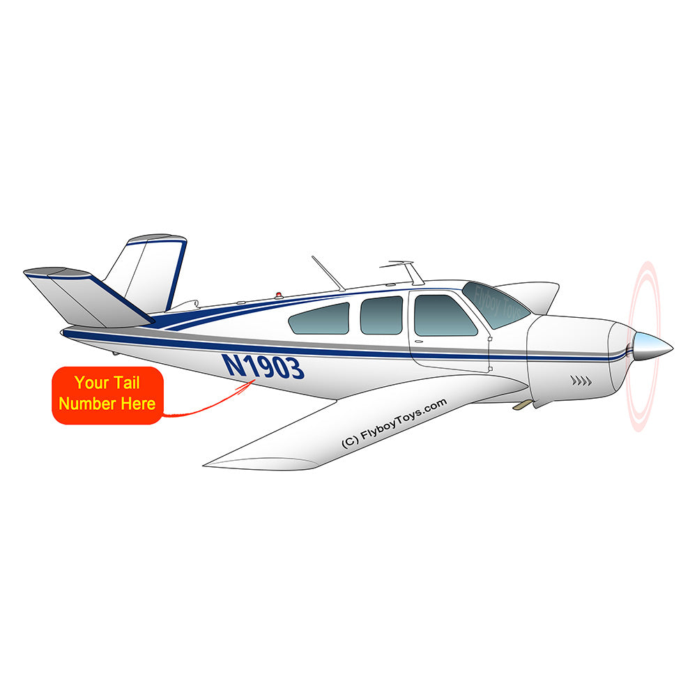 Airplane Design (Silver/Blue #1) - AIR2552FEV35A-SB1