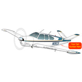 Beechcraft Bonanza V35B Blue Gold