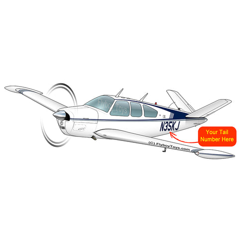 Beechcraft Bonanza V35B Blue Grey