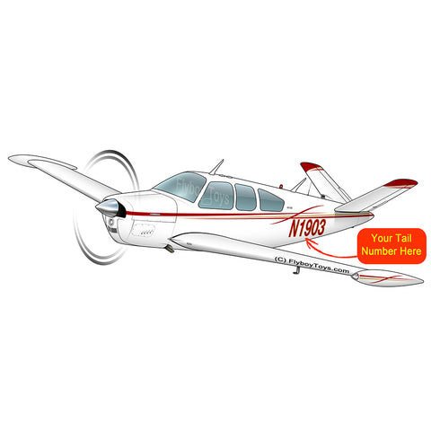 Airplane Design (Red/Gold) - AIR2552FEV35B-RG1