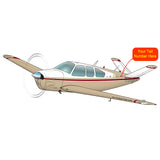 Airplane Design (Tan/Red) - AIR2552FEV35B-TR1