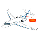 Beechcraft Hawker 800XP Blue Gold