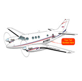 Beechcraft King Air 90 Blue Red