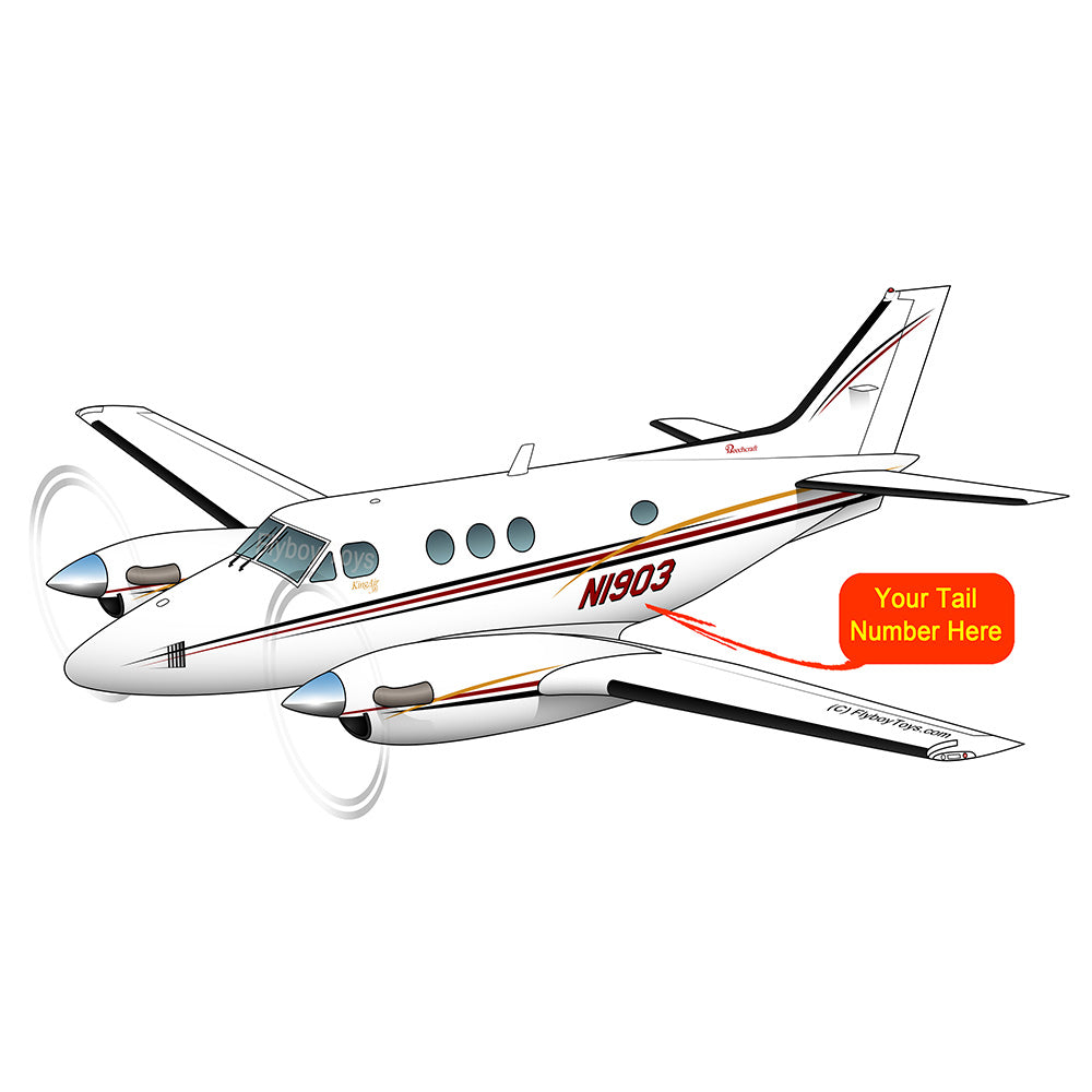 Beechcraft King Air 90 Black Red Gold 2