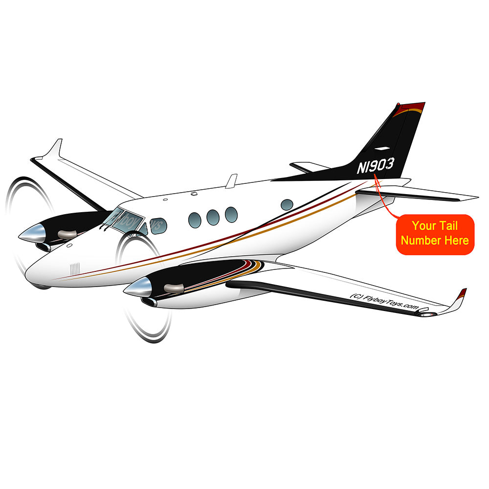 Beechcraft King Air 90 Black Red Gold