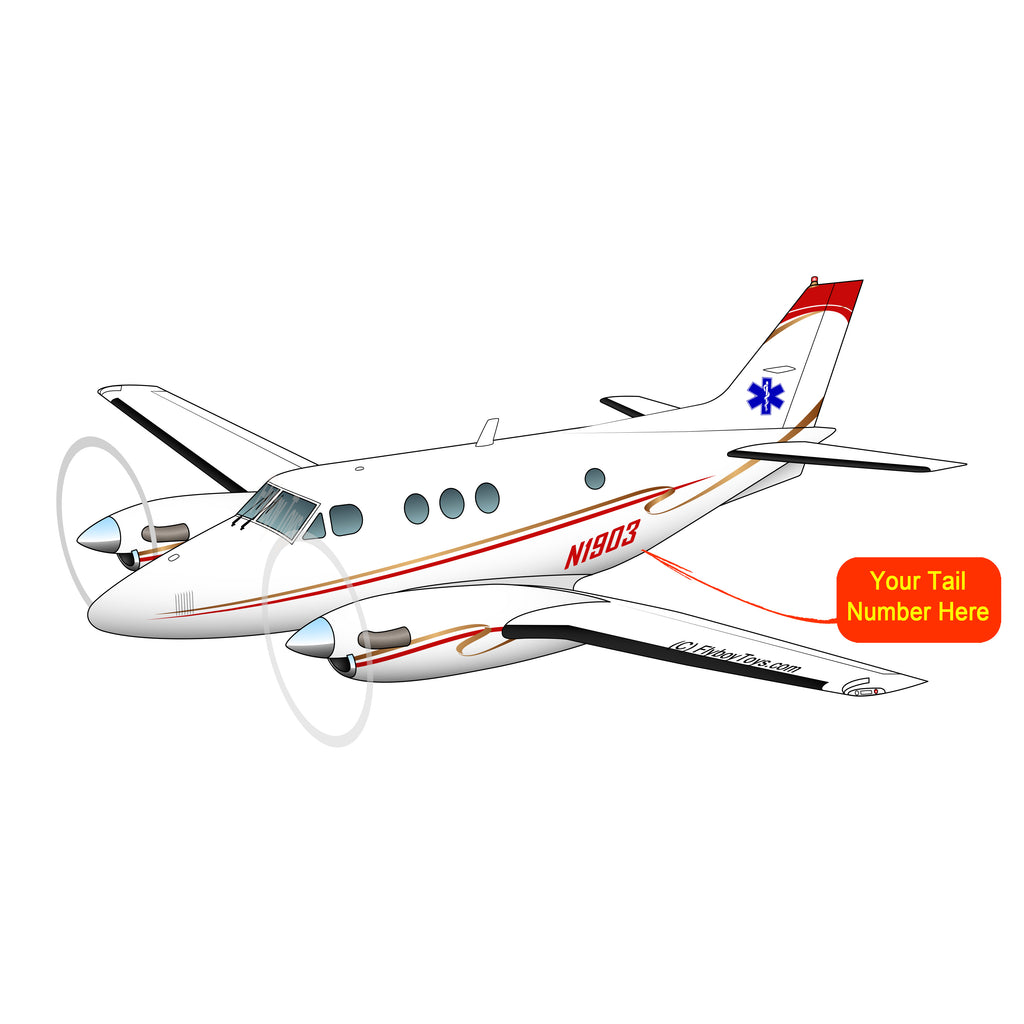 Airplane Design (Red/Gold) - AIR255B9E90-RG1