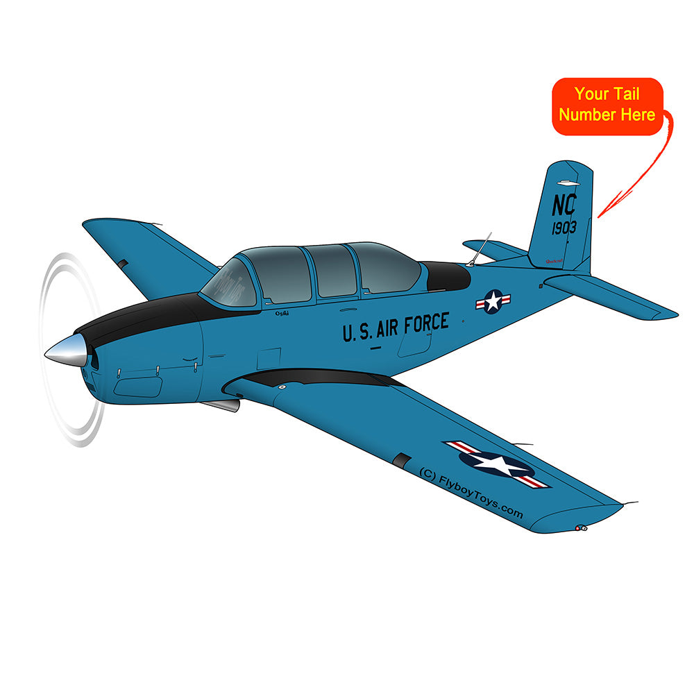 Beechcraft T-34 Mentor Black Blue