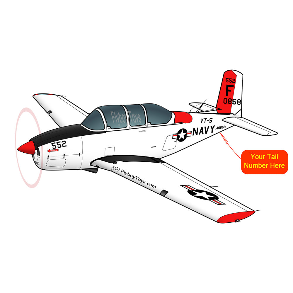 Beechcraft T-34 Mentor Black Red
