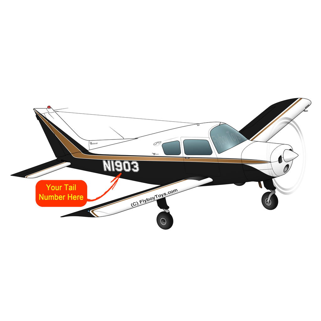 Beechcraft 23 Musketeer Black Brown