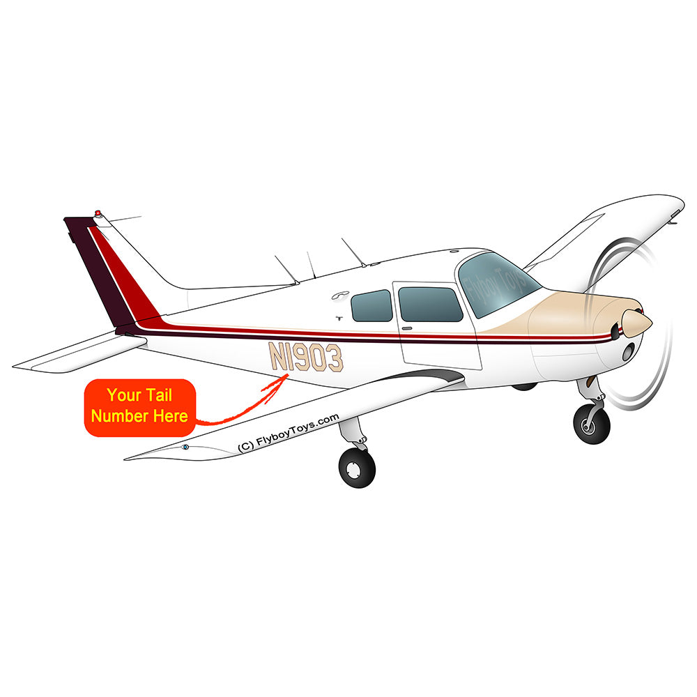 Beechcraft 23 Musketeer Brown Red
