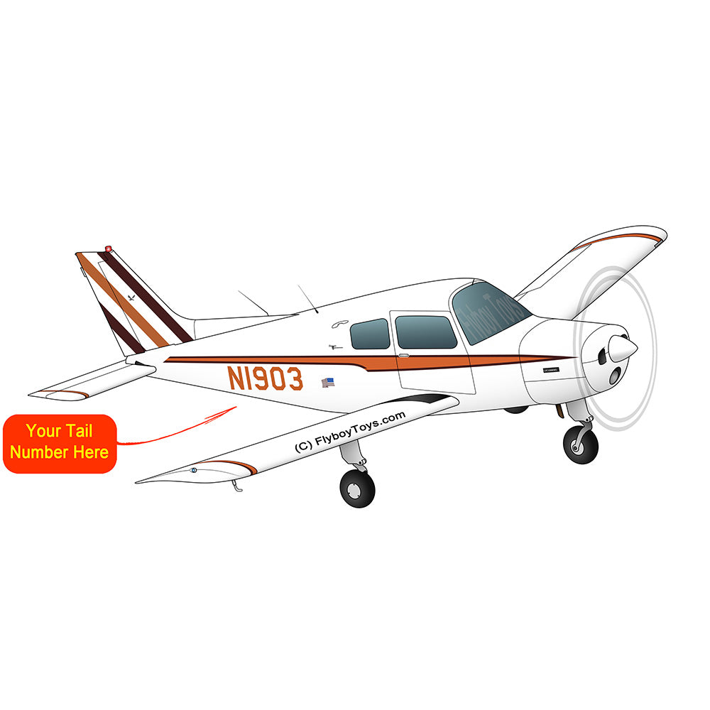 Beechcraft 23 Musketeer Orange Brown