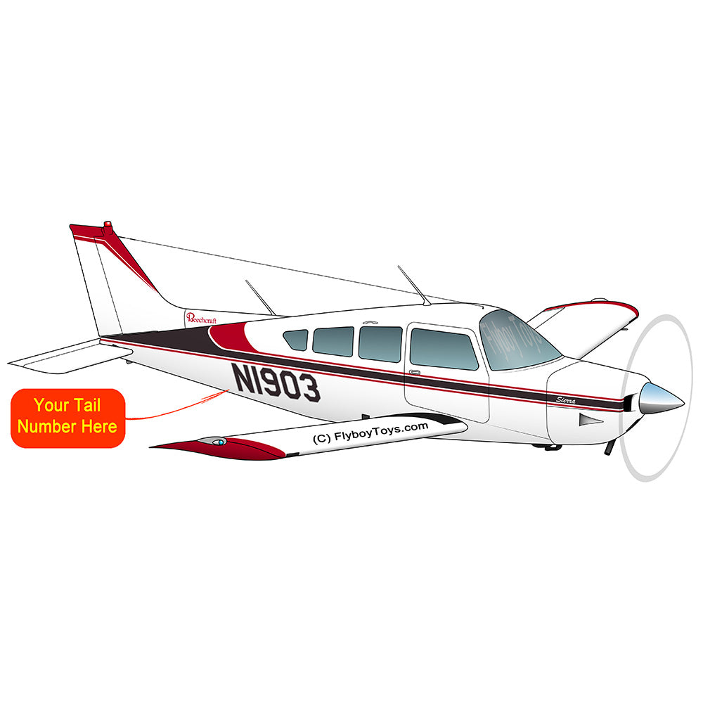 Airplane Design (Red/Brown) - AIR255J95-RB1