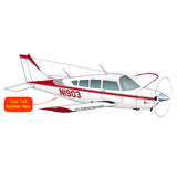 Airplane Design (Red/Silver)  - AIR255J95-RS1
