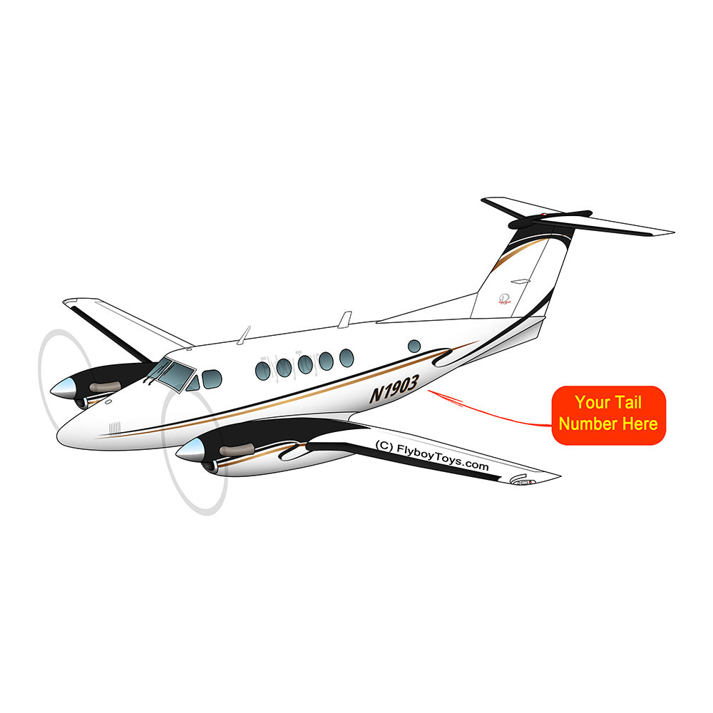 Beechcraft Super King Black Gold