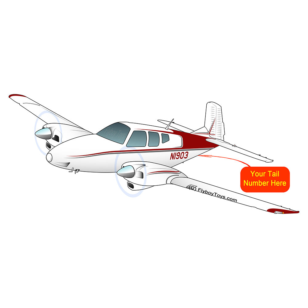 Airplane Design (Red/Silver) - AIR255KI1-RS1