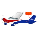 Airplane Design (Blue/Red) - AIR35JJ177-BR1