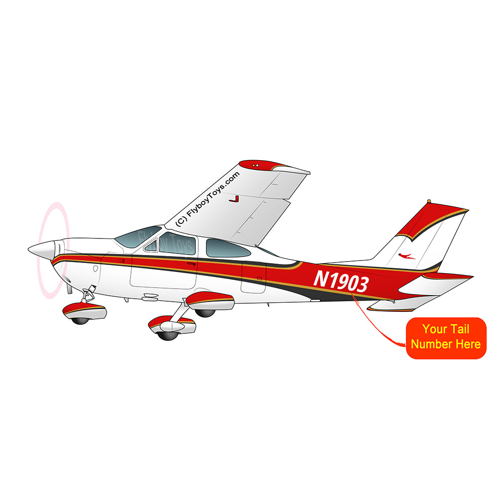 Airplane Design (Red/Black) - AIR35JJ177-RB1