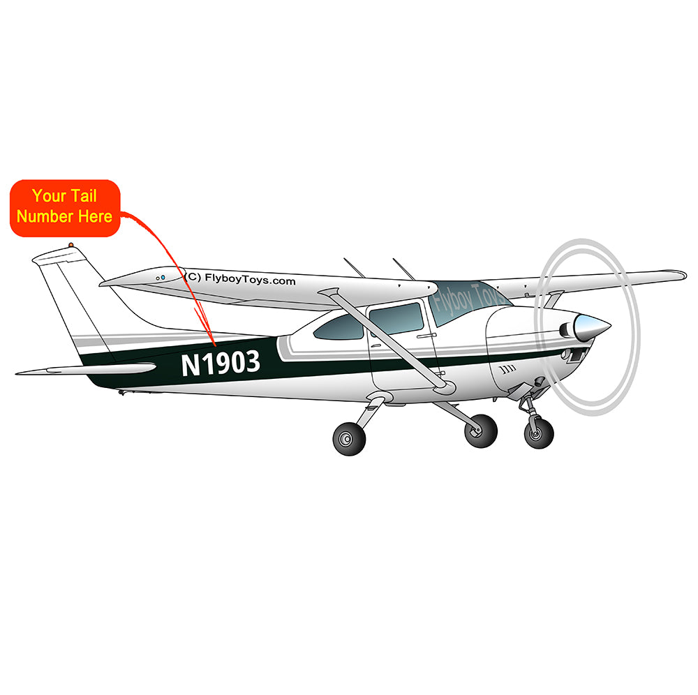 Airplane Design (Silver/Green) - AIR35JJ182-SG1