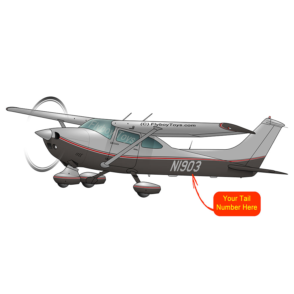 Airplane Design (Silver/Red) - AIR35JJ182E-SR1