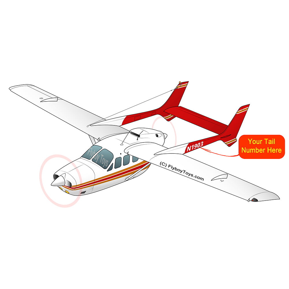 Airplane Design (Red/Orange) - AIR35JJJBPD1JK5I-RO1