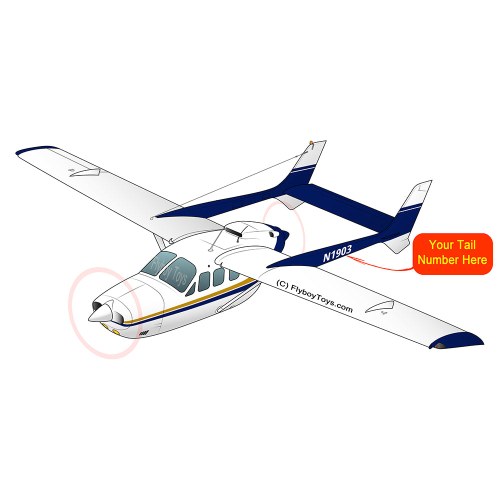 Airplane Design (Yellow/Blue) - AIR35JJJBPD1JK5I-YB1