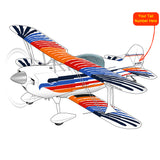 Airplane Design (Blue/Red/Orange) - AIR38I517-BRO1