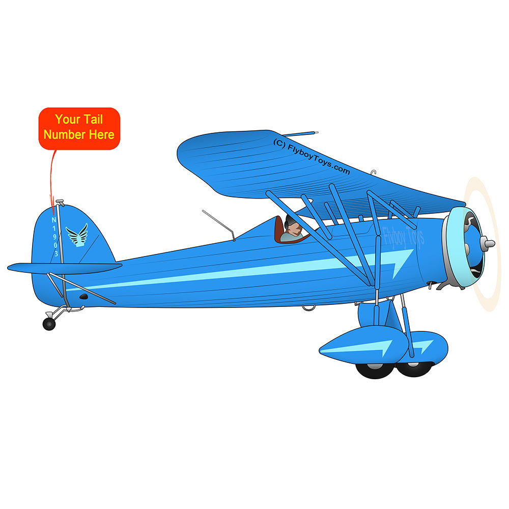 Airplane Design (Blue #1) - AIR41MD1W-B1