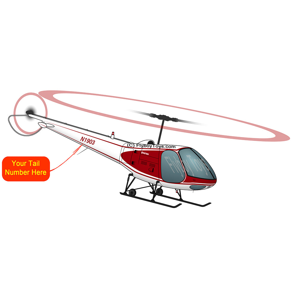 Helicopter Design (Red) - AIR5EJ6FBF28-R1