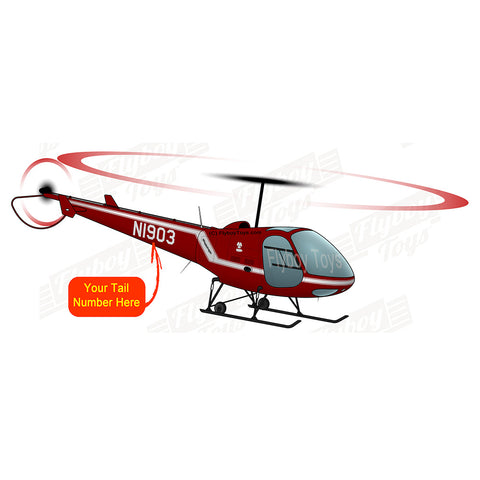 Helicopter Design (Red #2) - AIR5EJ6FBF28-R2