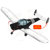 Airplane Design (Black/White) - AIR5I3415C-BW1