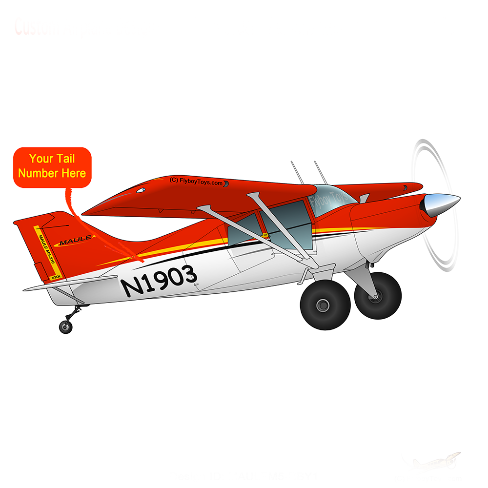 Airplane Design (Red/Black/Yellow) - AIRD1LM5-RBY1