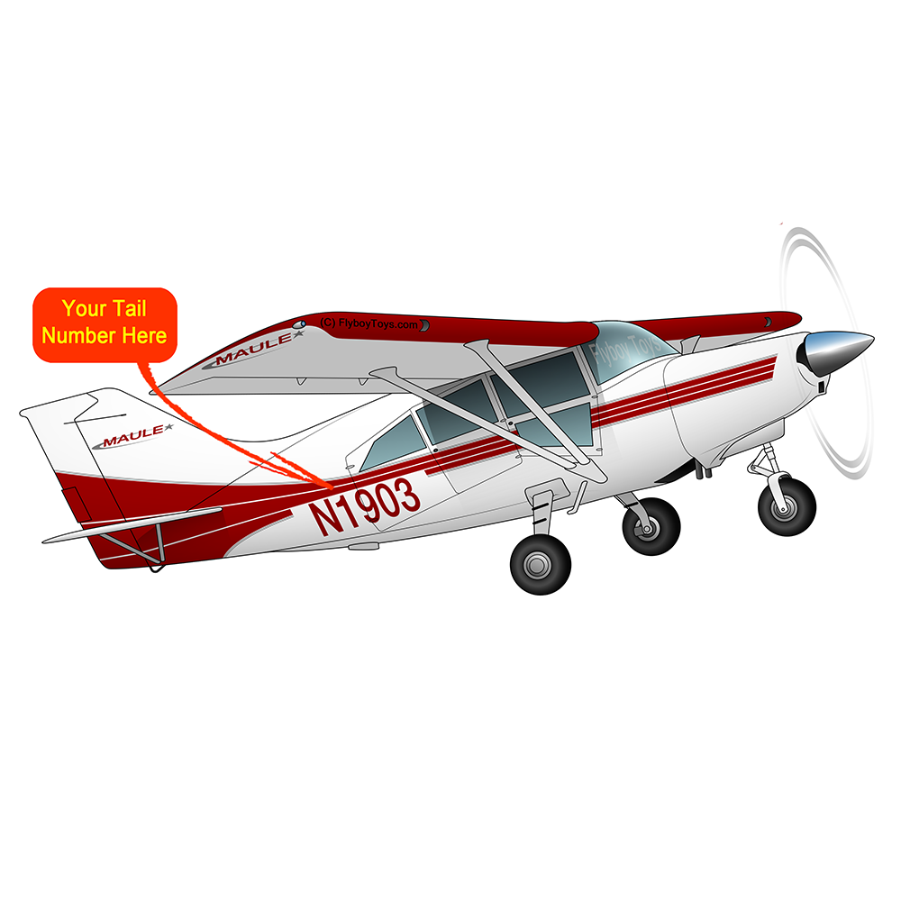 Airplane Design (Red/Silver) - AIRD1LMT7-RS1