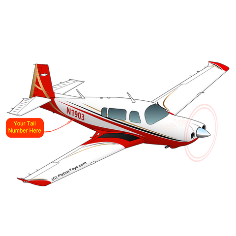 Airplane Design Mooney (Red) - AIRDFF-R1