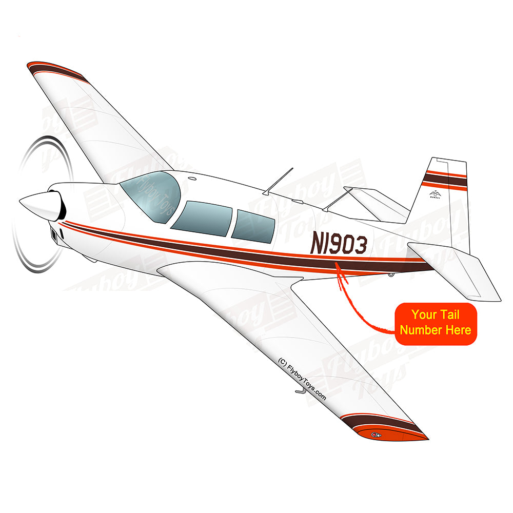 Airplane Design (Brown/Red) - AIRDFFM20-BR2