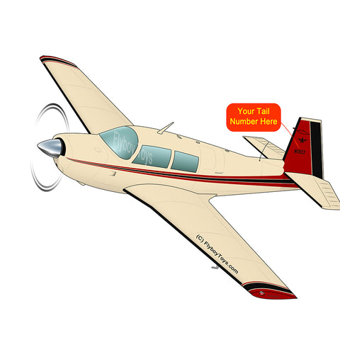 Airplane Design (Cream/Red/Black) - AIRDFFM20F-CRB1