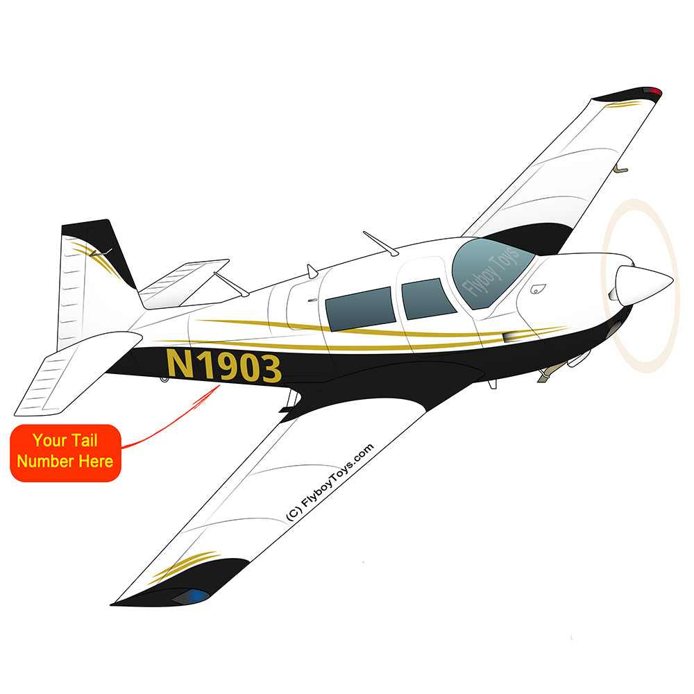 Airplane Design (Black/Gold) - AIRDFFM20J-BLK1