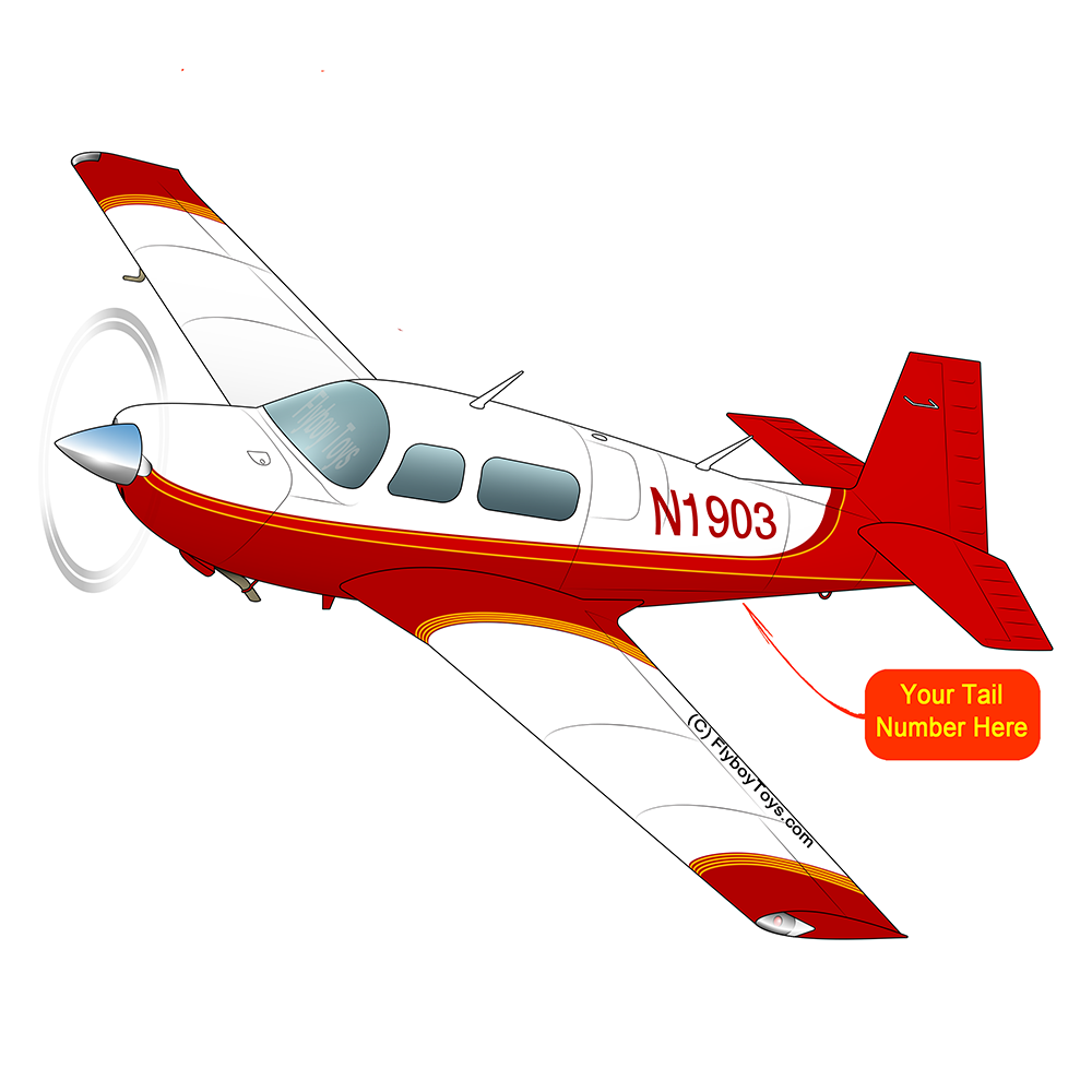 Airplane Design (Red/Orange) - AIRDFFM20J-RO1