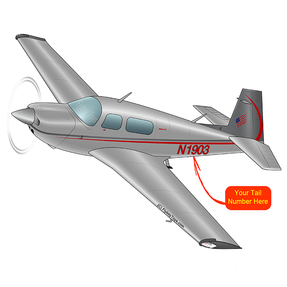 Airplane Design (Red/Silver) - AIRDFFM20J-RS1